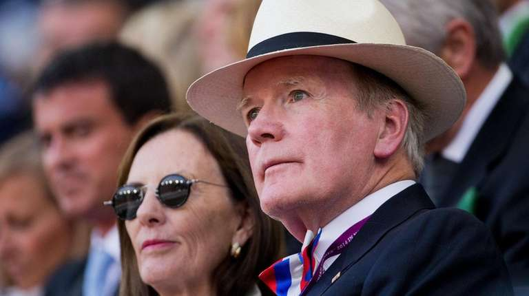 Alltech CEO Pearse Lyons sits in the official