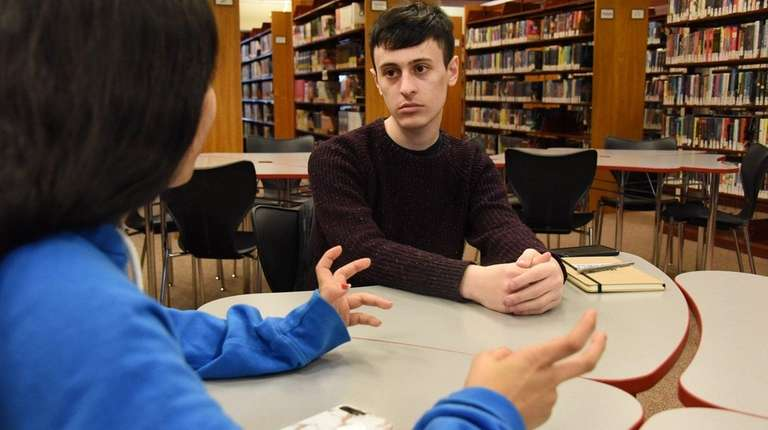 Hewlett-Woodmere district students Hayden Gise, 17, and Arham