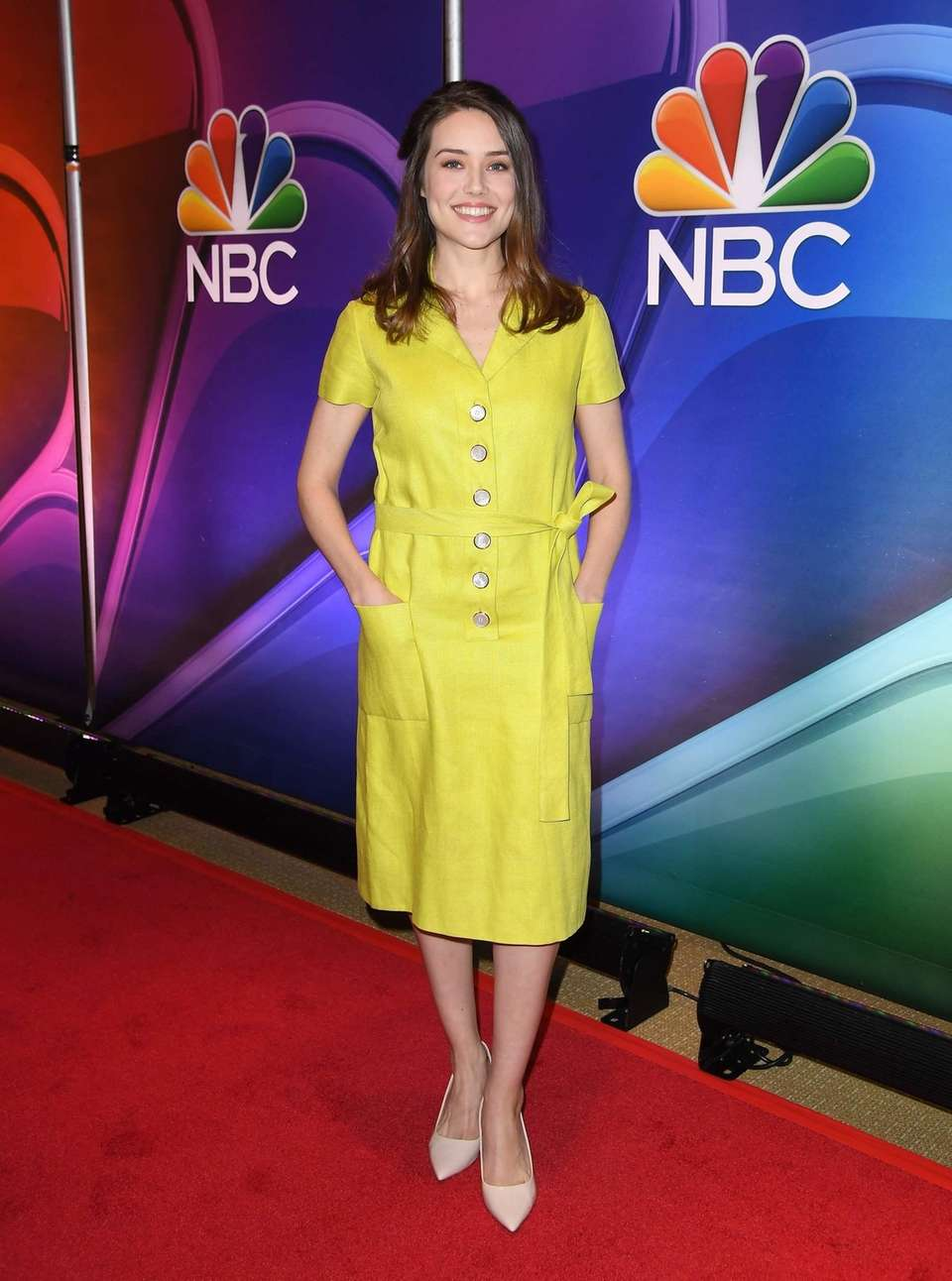 Actress Megan Boone attends the NBC Mid-Season Press