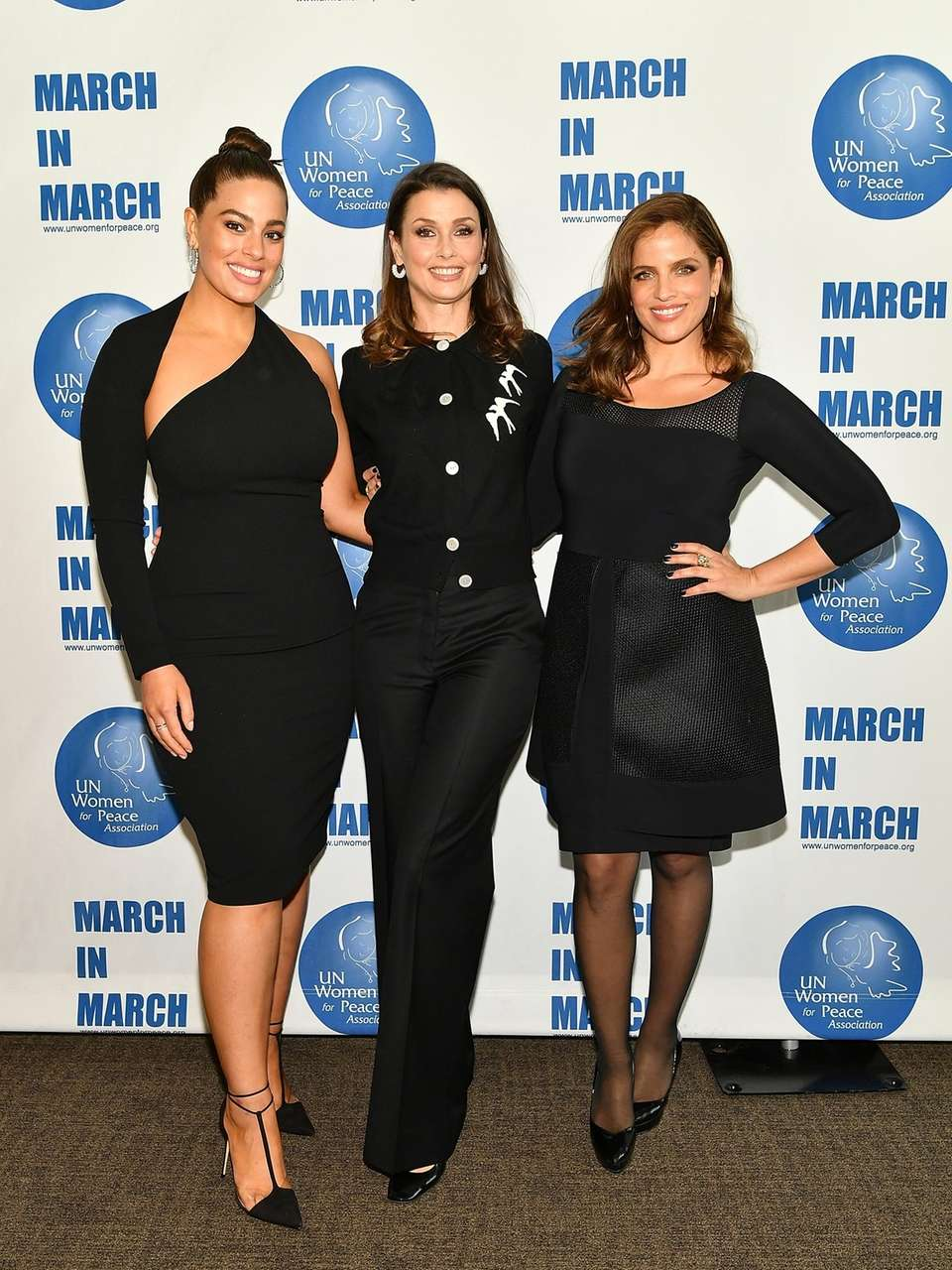 Model Ashley Graham, model Bridget Moynahan and actress