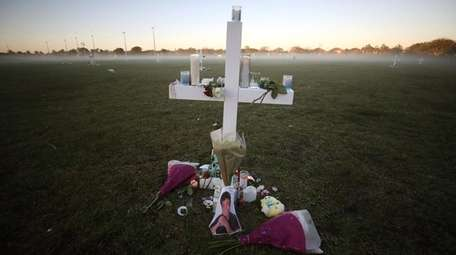 A memorial for victims of the mass shooting