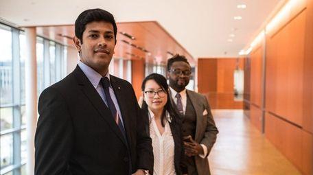 Adelphi students Vishwanath Gurumurthy, Lani Chau and Lentz