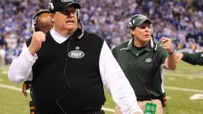 New York Jets head coach Rex Ryan late
