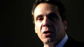 New York Attorney General Andrew Cuomo speaks in