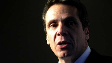 New York Attorney General Andrew Cuomo speaks in