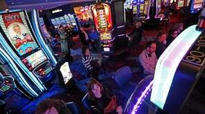 The scene on the 100,000-square-foot gaming floor at
