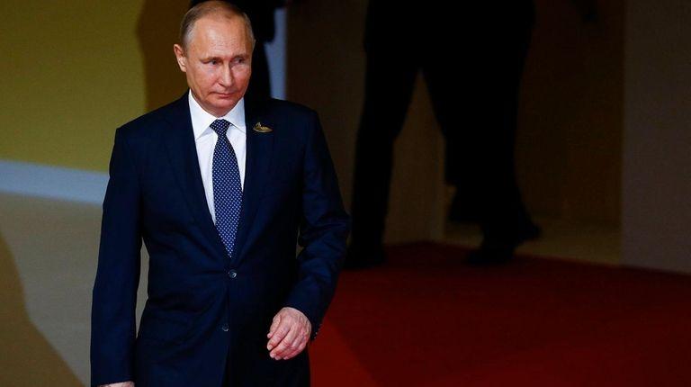Russian President Vladimir Putin arrives at the G-20