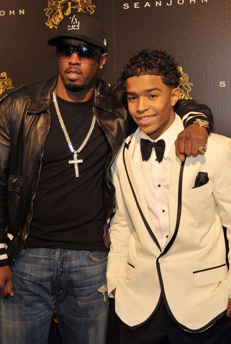 Sean Diddy Combs and his son, Justin Dior