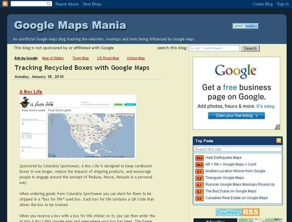 Screengrab from website : Googlemapsmania.blogspot.com ( google maps