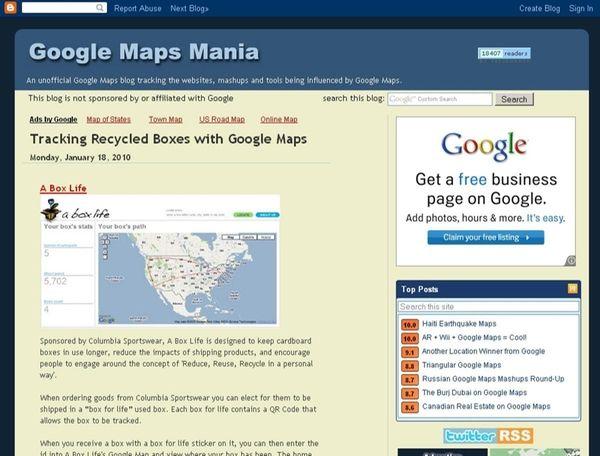 Screengrab from website : Googlemapsmania.blogspot.com ( google maps