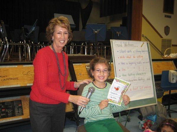 Mrs. Sandi Saltzman led her first grade