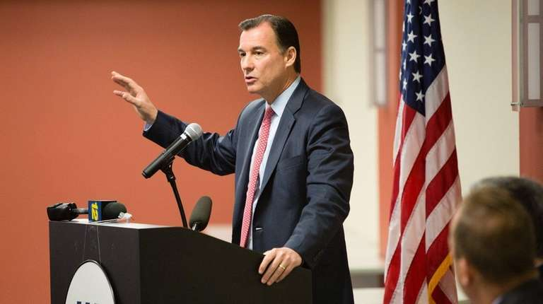 Rep. Tom Suozzi (D-Glen Cove) speaks during an