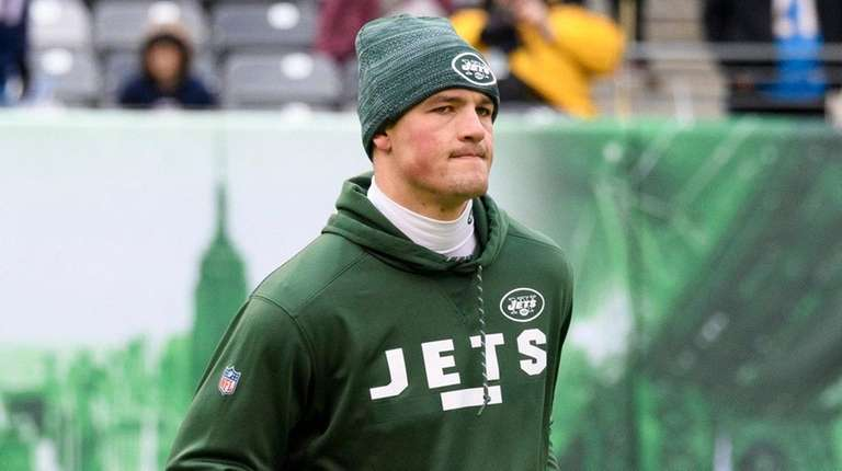 Jets quarterback Christian Hackenberg before a game against