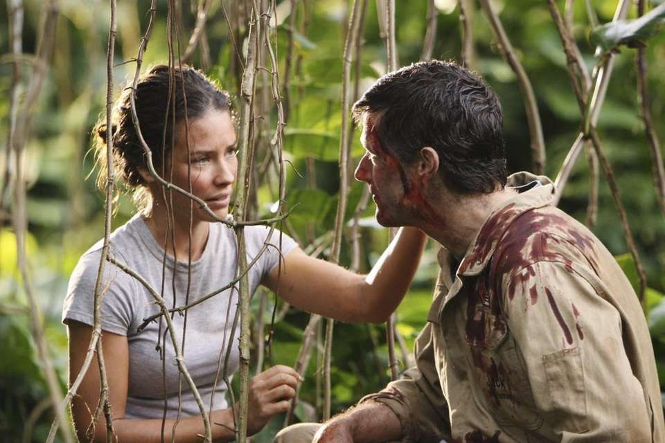Evangeline Lilly, left, and Matthew Fox are shown