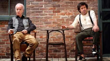 Sean McGinley, left, and Stephen Rea reminisce over