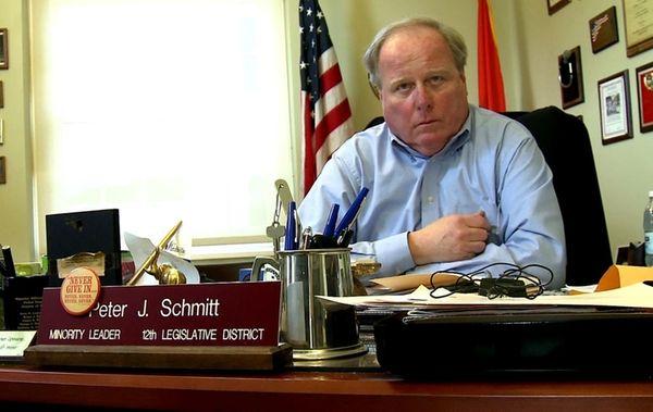 Nassau Presiding Officer Peter Schmitt answers questions about