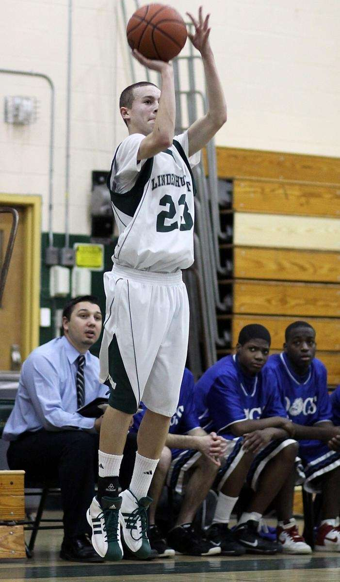 Hitting another 3-pointer is Lindenhurst's Rob Balkam. (January