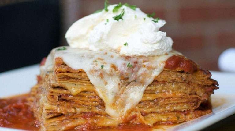 Grandma's eggplant lasagna is a specialty at Ciao