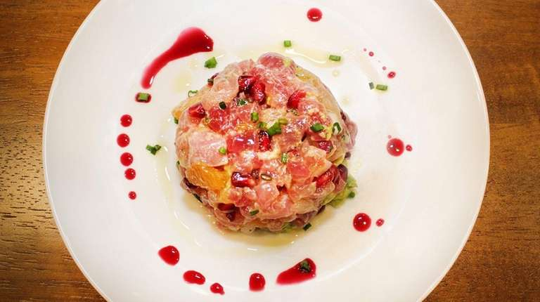Tuna tartar at The Preston House in Riverhead