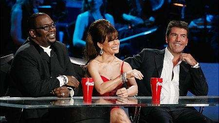 The old gang: Randy Jackson, Paula Abdul and