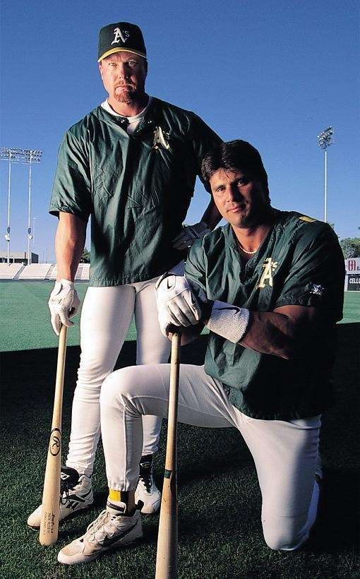 Jose Canseco, right, made claims in his book