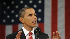 U.S. President Barack Obama delivers his first State