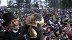 John Griffiths, a handler of the weather-predicting groundhog