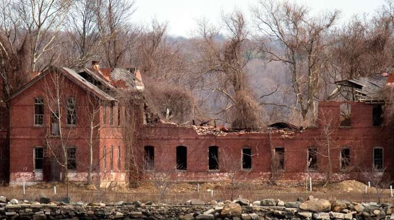 The decaying abandoned prison workhouse on Hart Island