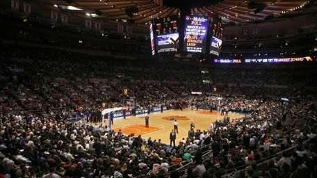 Fans pack the seats at Madison Square Garden