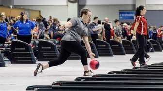 Middle Country's Hannah Skalacki competes in the NYSPHSAA