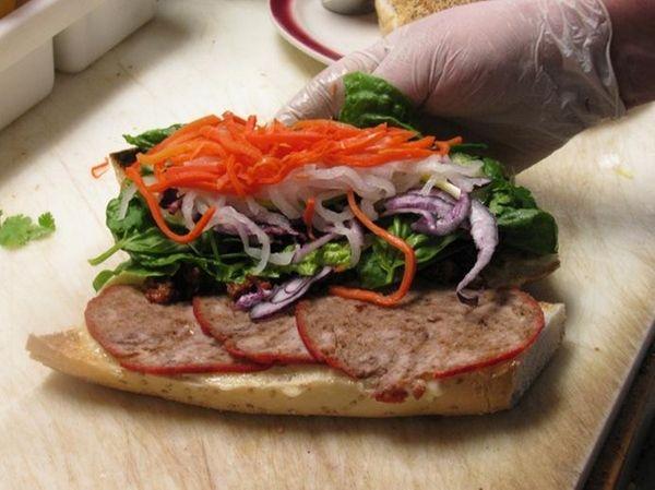 Banh mi (Vietnamese pork sandwich) from Winnie's Coffee