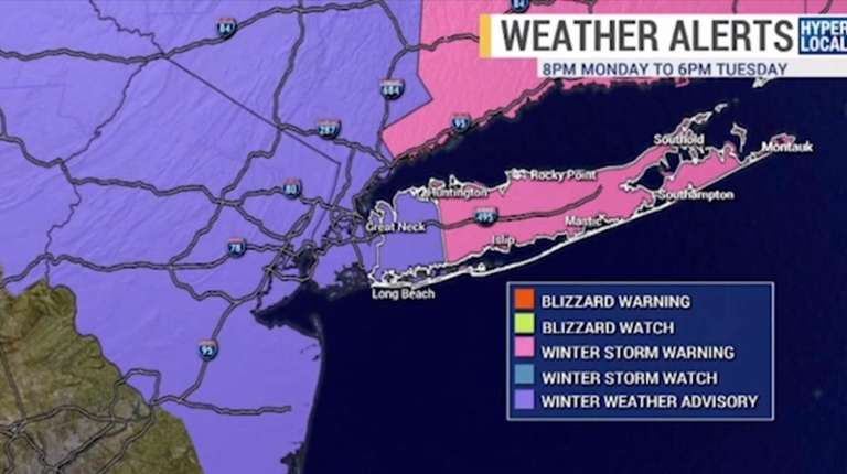 Latest storm blankets Eastern Long Island with snow