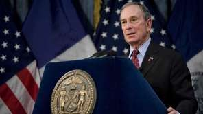 New York City Mayor Michael Bloomberg speaks about