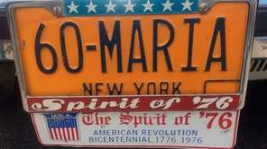 Maria Mucaria Stankowski, of Levittown, has this plate