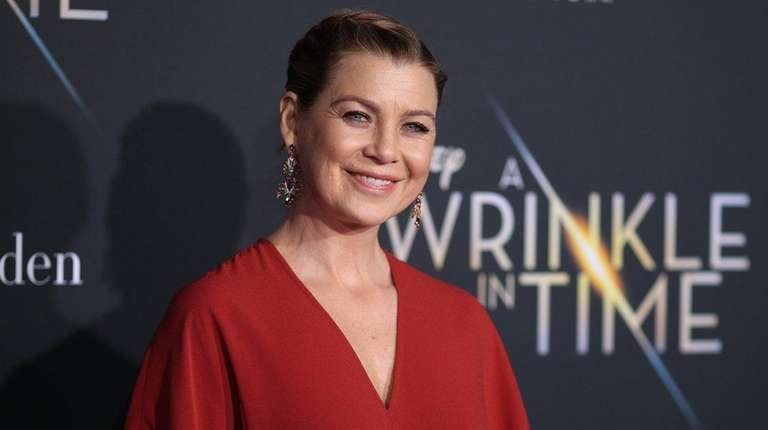 Ellen Pompeo attends the premiere of Disney's
