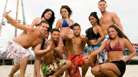 jersey shore gang...one of these left early in