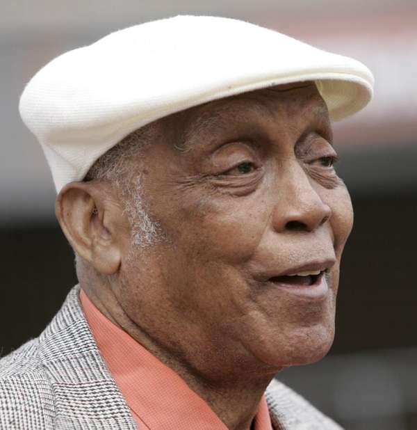 Monte Irvin, a former baseball player with the