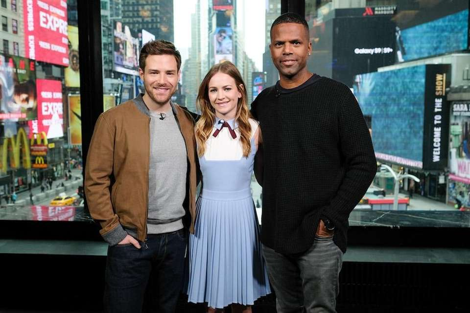 From left, Ben Rappaport, Britt Robertson and AJ