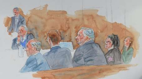 Artist sketch shows John Venditto, second from top