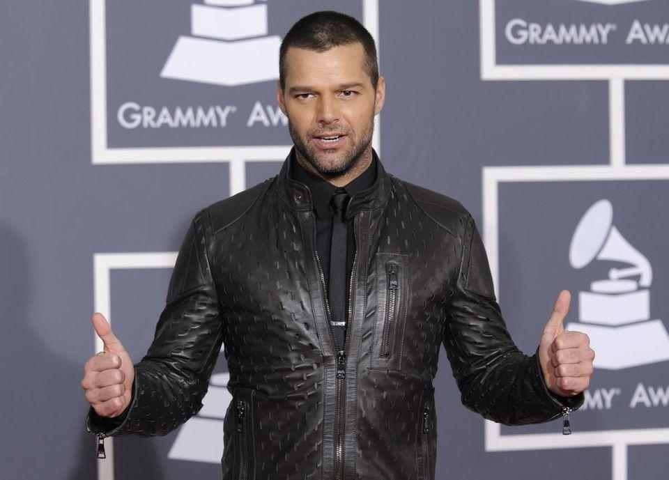 Ricky Martin arrives at the Grammy Awards on