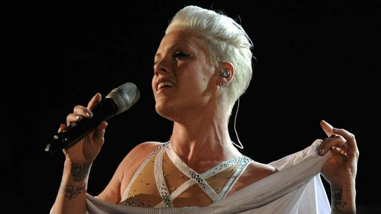 Singer Pink performs on stage at the 52nd