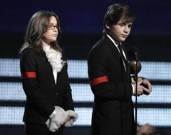 Michael Jackson's children Paris, left, and Prince Michael
