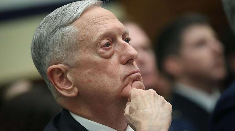 U.S. Defense Secretary Jim Mattis at a House