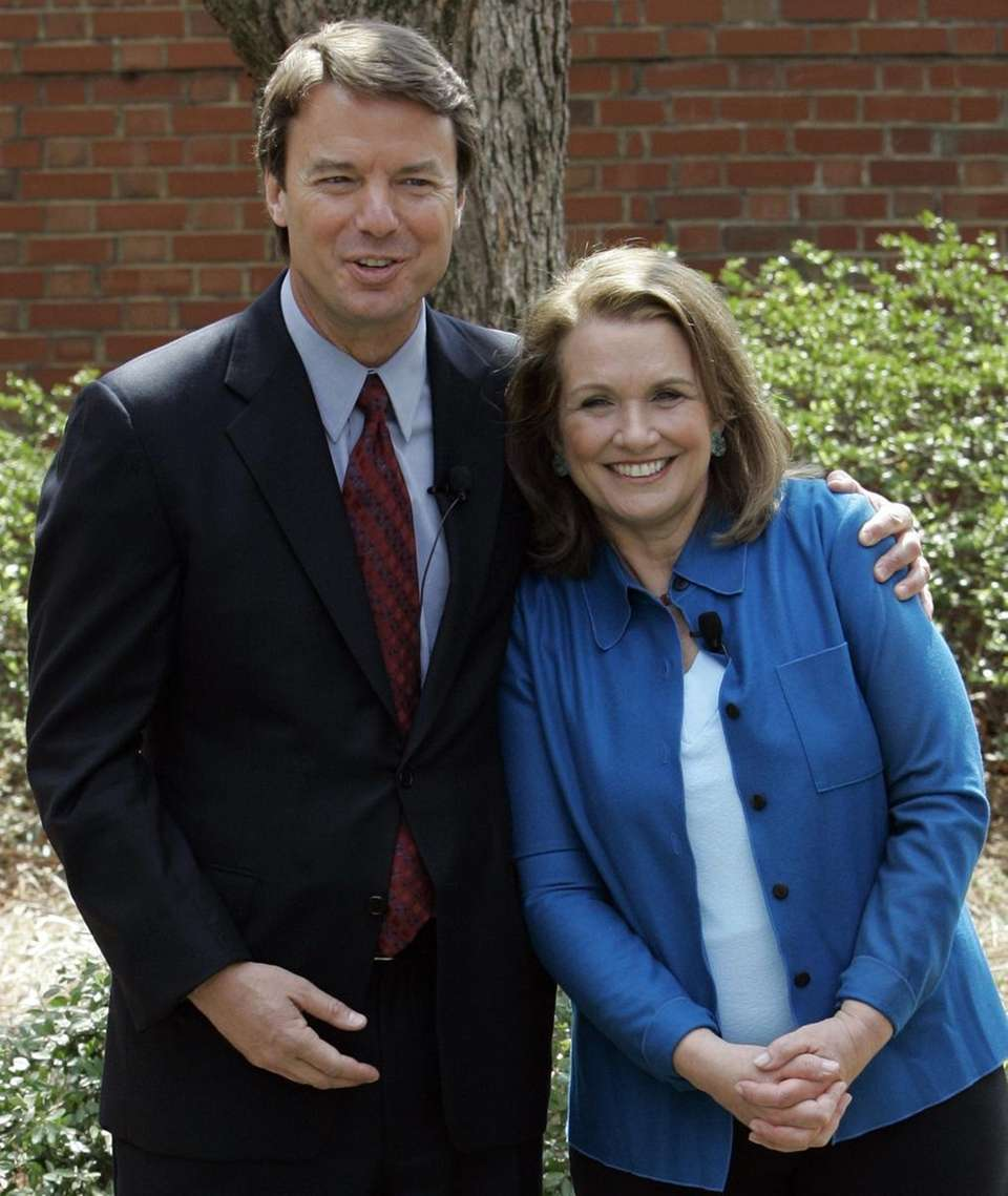 Two-time presidential candidate John Edwards and his wife,