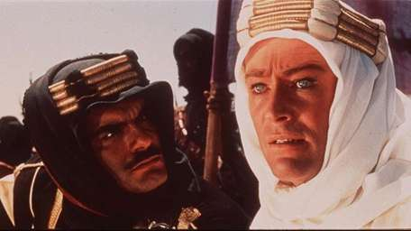 Peter O'Toole (right) as T.E. Lawrence, with co-star