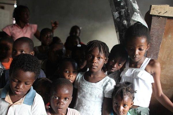 Orphans are seen at the Foyer de la