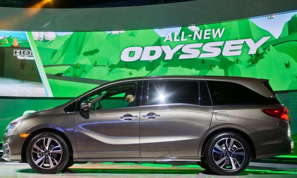 The redesigned Honda Odyssey was the magazine's pick