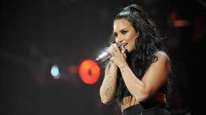Demi Lovato performs Friday night at the Barclays