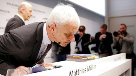 VW group CEO Matthias Mueller at the annual