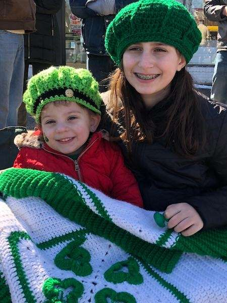 Cousins enjoying parade